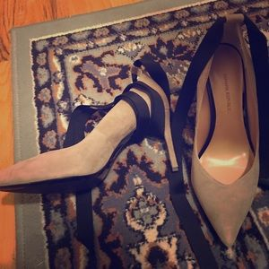 NWOT Banana Republic Faux Suede Wrap Pumps