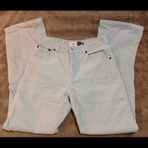 Gap Cream Corduroy Pants Junior 16 flare