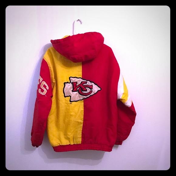 03044a91 STARTER Vintage Kansas City Chiefs Puffer Jacket S