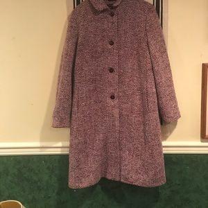 Tahari Tweed Wool Coat