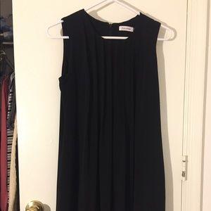 Calvin Klein black pleated work dress
