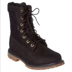 New Timberland Open Weave Lace Up Combat Boots
