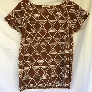 Funky Brown and White Old Navy Blouse
