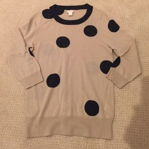 J Crew Polka Dot tipi sweater
