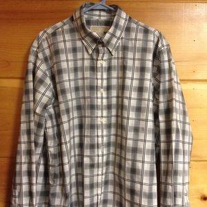 Michael Kors black white button down shirt XL