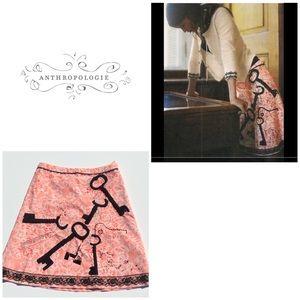 Anthropologie Secret Key Skirt