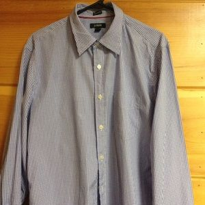 J. Crew tailored fit button down shirt blue large