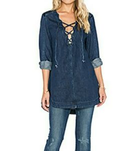 Free People denim top
