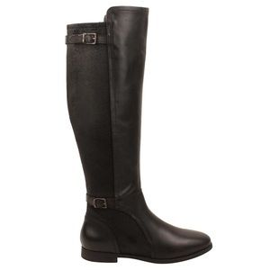 New Ugg Danae Black Leather Suede Riding Boots