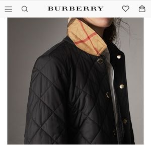 Burberry quilted Jacket great condition