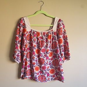 OLD NAVY • FLORAL 3/4 SLEEVE BLOUSE