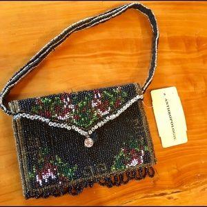 NWT Anthropologie Beaded Evening Handbag
