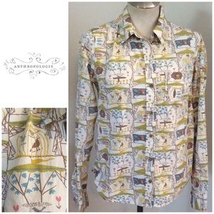 Odille Anthropologie Best in Show Button Up Shirt
