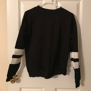 ASOS striped sleeve crewneck sweatshirt