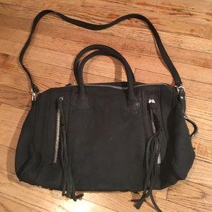 H&M grey genuine suede bag