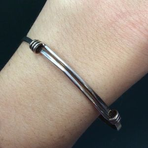 Sterling Silver Sliding Knots Bangle
