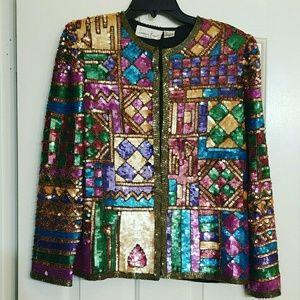 Vintage sequin blazer/jacket