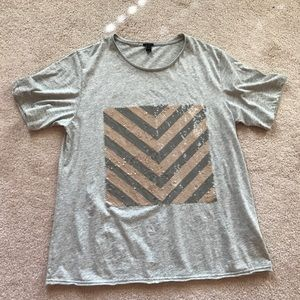 J.CREW Embellished Tee Cotton Blend T-Shirts Women