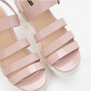 Forever 21 blush pink with white platform