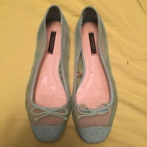 Zara basic green ballet flats. Size 38(US 7)