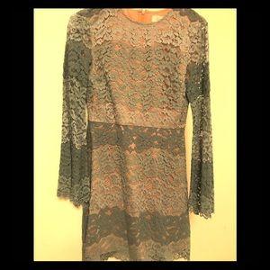 Excellent condition beautiful blue lace Tobi dress