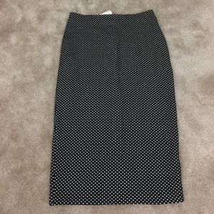 H&M Black and White Dotted Pencil skirt size 6
