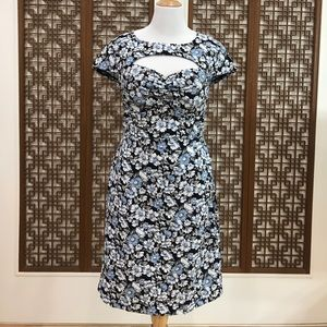 ModCloth Floral Keyhole Wiggle Dress SZ: XL