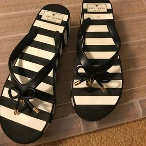 Black and white sandals Kate spade