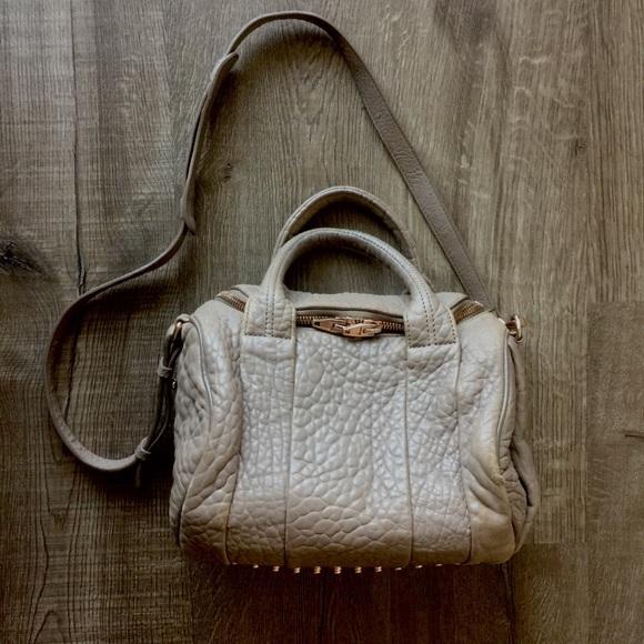 b15a396fee09 Alexander Wang Handbags - 🔥❗️Alexander Wang Rockie Pebbled Latte Rose Gold