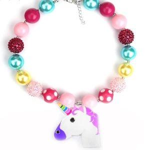 LITTLE DIVA ALERT! Little girl Unicorn necklace