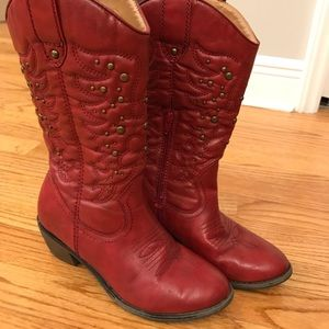 Red boots, x appeal, sz 4