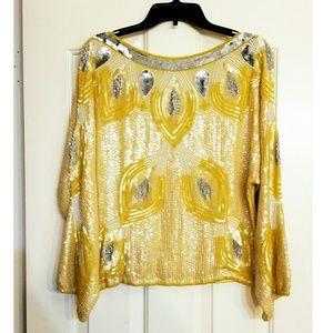 Vintage sequin top/ blouse