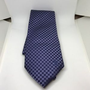 Navy Louis Vuitton Damier Tie