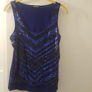 Glitter dress top