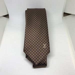 Brown Louis Vuitton Damier Tie