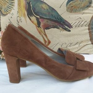 Aquatalia Tutu Brown Pumps
