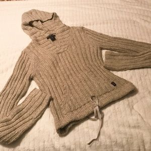 Abercrombie & Fitch Hoodie Knit Sweater