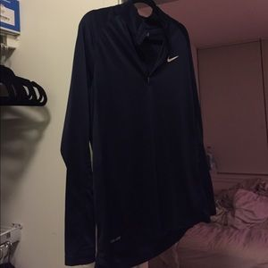 Nike Dri Fit Navy Quarter Zip!