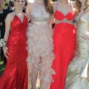Sherri Hill Nude/Blush Prom Dress