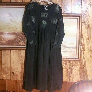 100% cotton bird dress