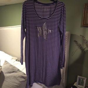 Victoria Secret Metallic Heart Night Shirt Sz XL