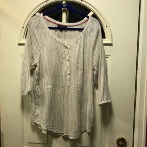 Striped grey and white casual shirt