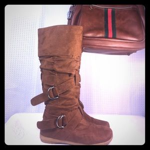 """Bamboo """"Zen style"""" camel 🐫 color pull on boots"""