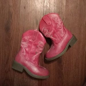 Pink Toddler Cowgirl boots like new!!!
