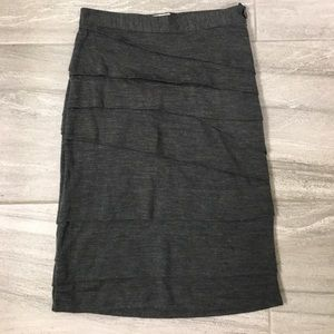 Anthropologie sweater knit layered skirt