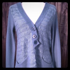 Free People Knit Cardigan Button Front W/Pockets