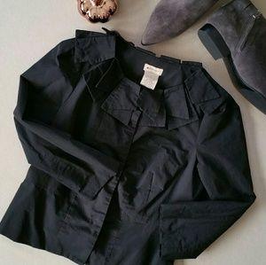 Anthropologie Elevenses Petal Collar Blazer/Jacket