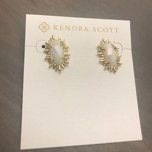 Kendra Scott White Iridescent Kay Earrings