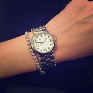 Marc by Marc Jacobs silver timeless watch