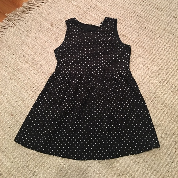 Doll Clothes-Navy Polka Dot Strapless Dress